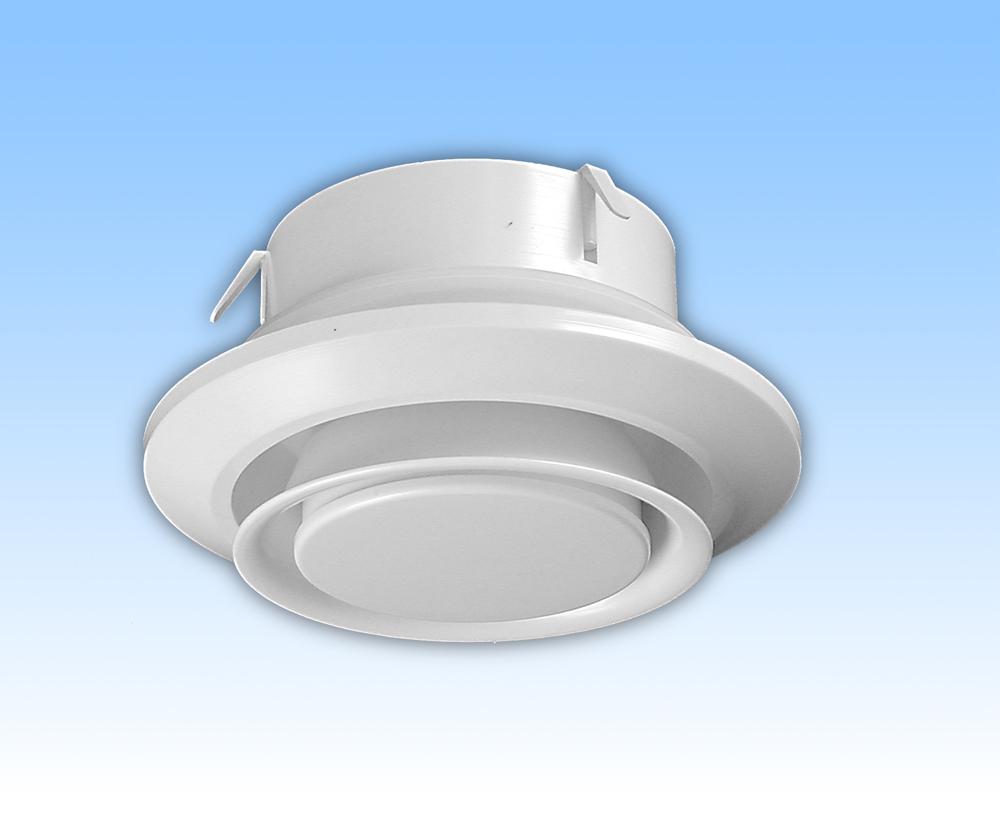 Anemostat exhaustor alb tub 125