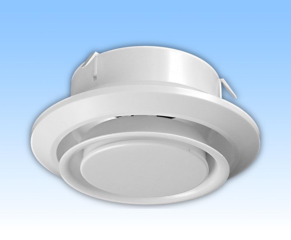 Anemostat exhaustor alb tub 150