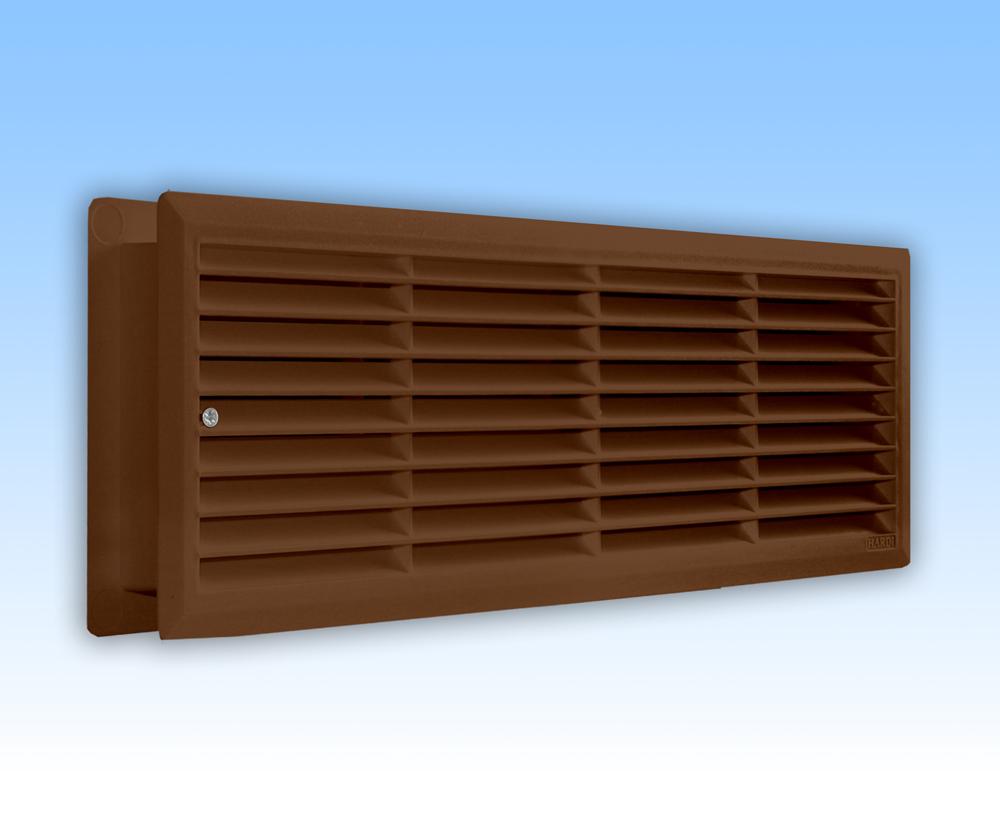 Grila ventilatie 44x12 maron dubla pentru usi