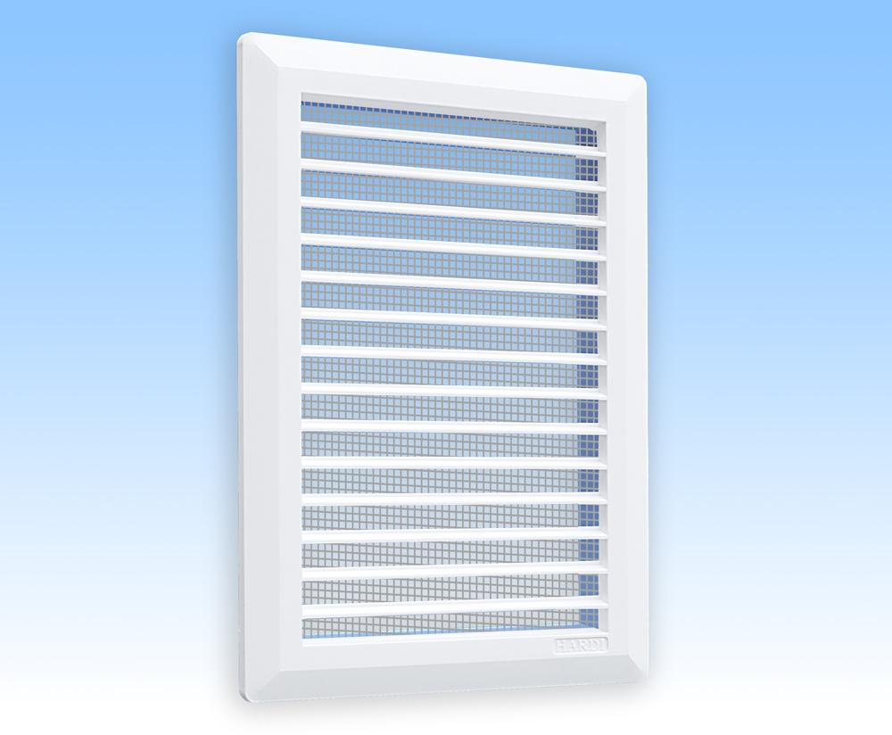 Grila ventilatie 14x21 alba, plata, dreapta, rama, plasa