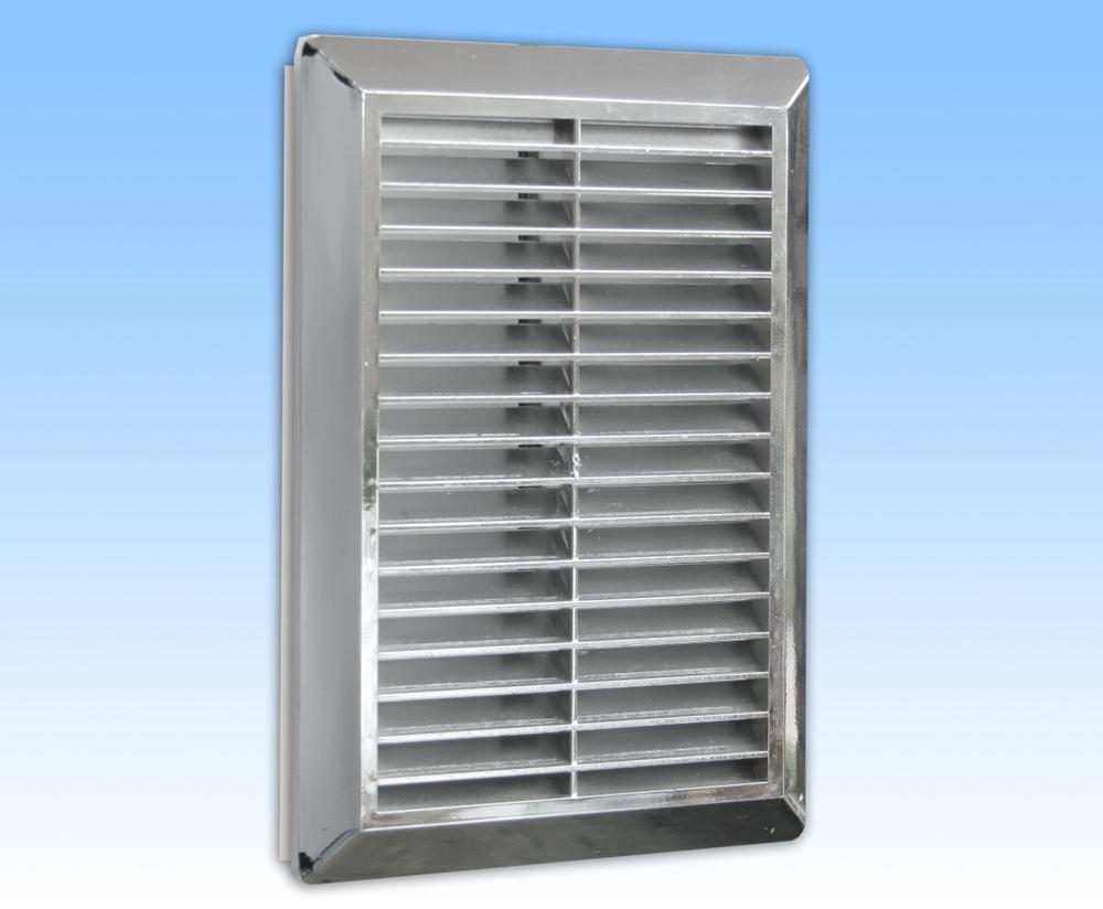 Grila ventilatie 14x21 argintie, rama, plasa