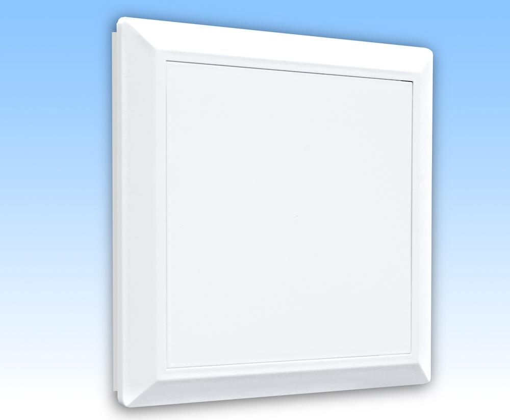 Grila ventilatie 14x14 alba plata, rama, usa, plasa