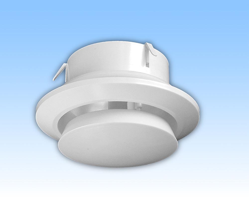 Anemostat de tiraj alb tub 150