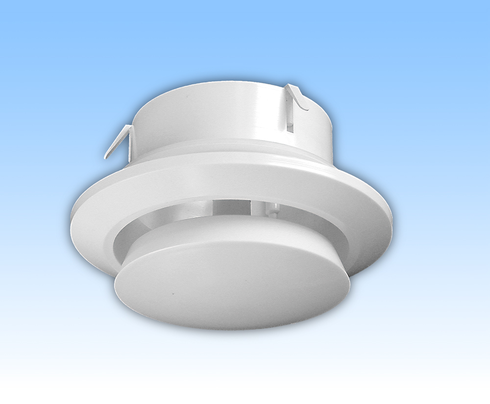 Anemostat de tiraj alb tub 125