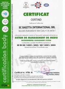 SAGITTA ISO 14001